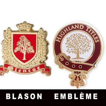 Pins à l'emblème de Highland Titles