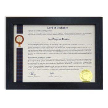 Cadre en Bois pour Certificat