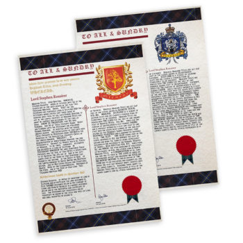 Certificat d'Armoiries